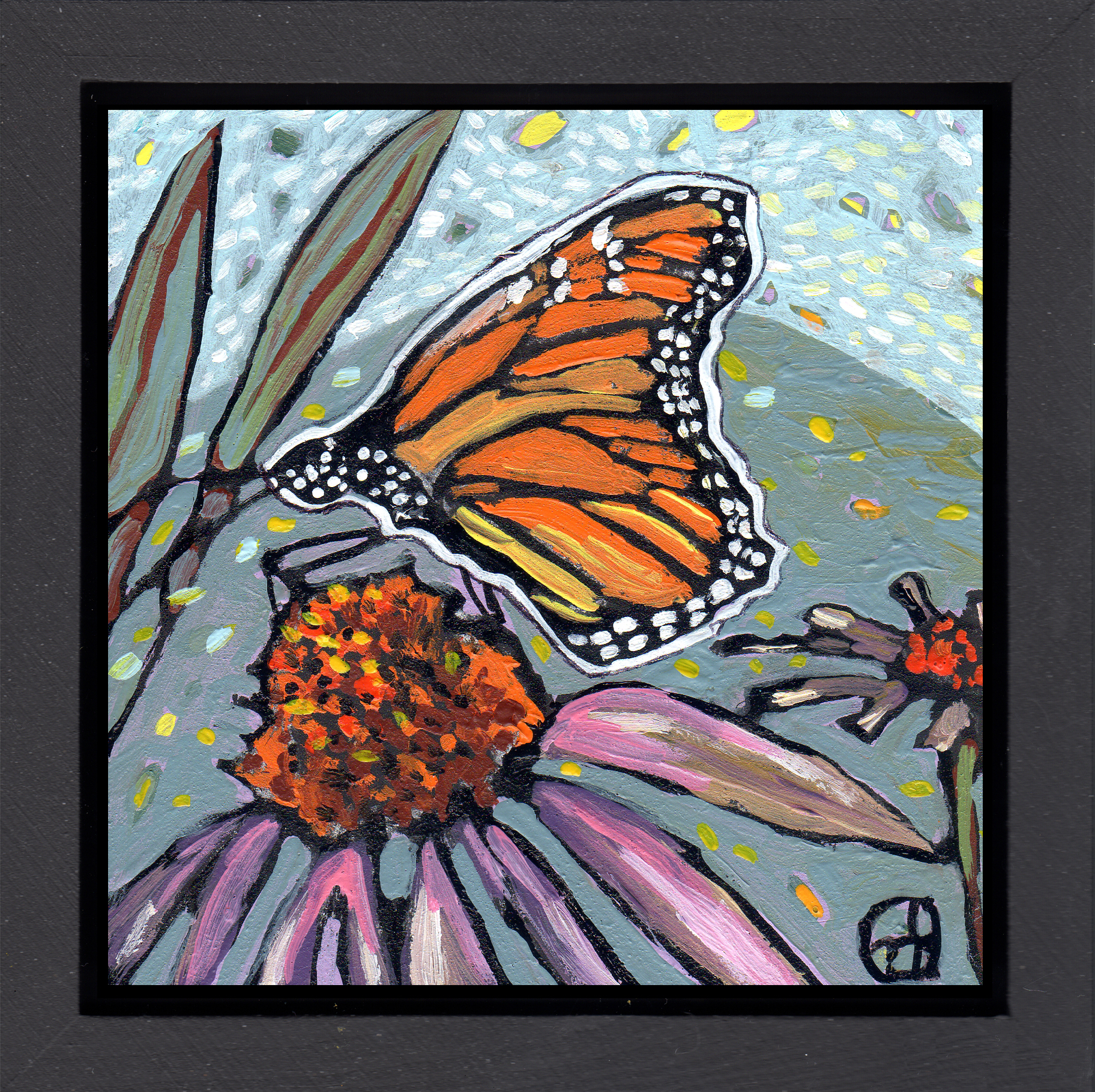Sold.  Based on a beautiful photo by Sarah M.  acrylic on wood  6.5 x 6.5 inches, 1.5 inch deep wood frame