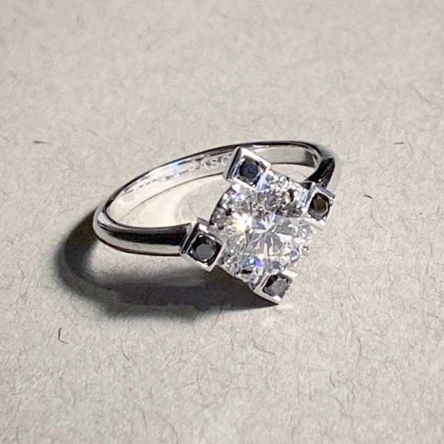 Bespoke diamond ring based on Cordelia ring from DP collection