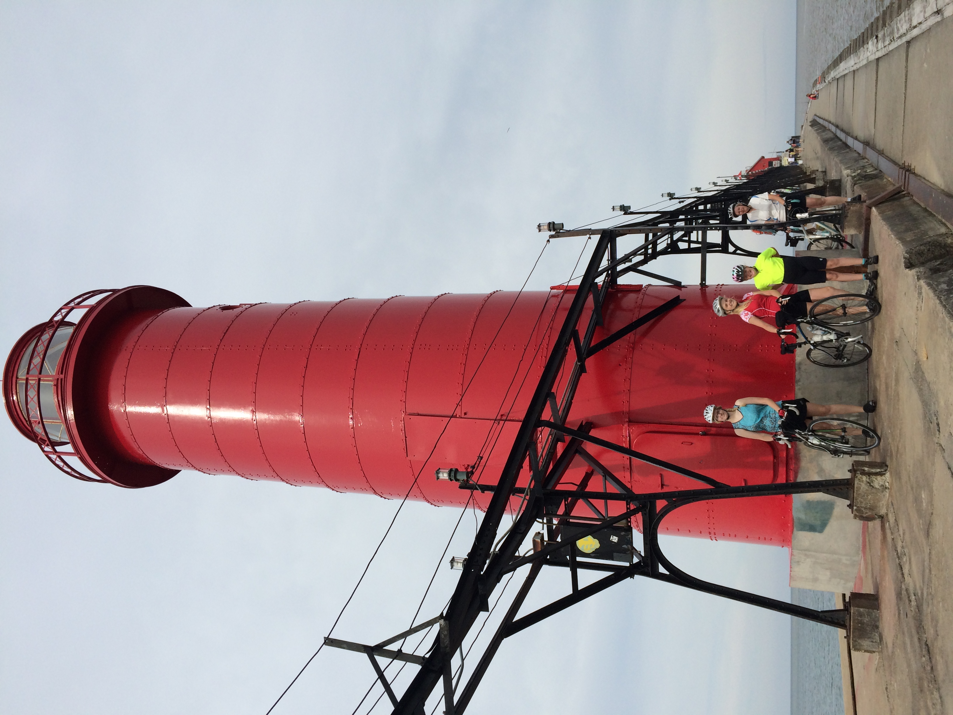 Grand Haven Light with sisters and Mom (Dad took the photo)