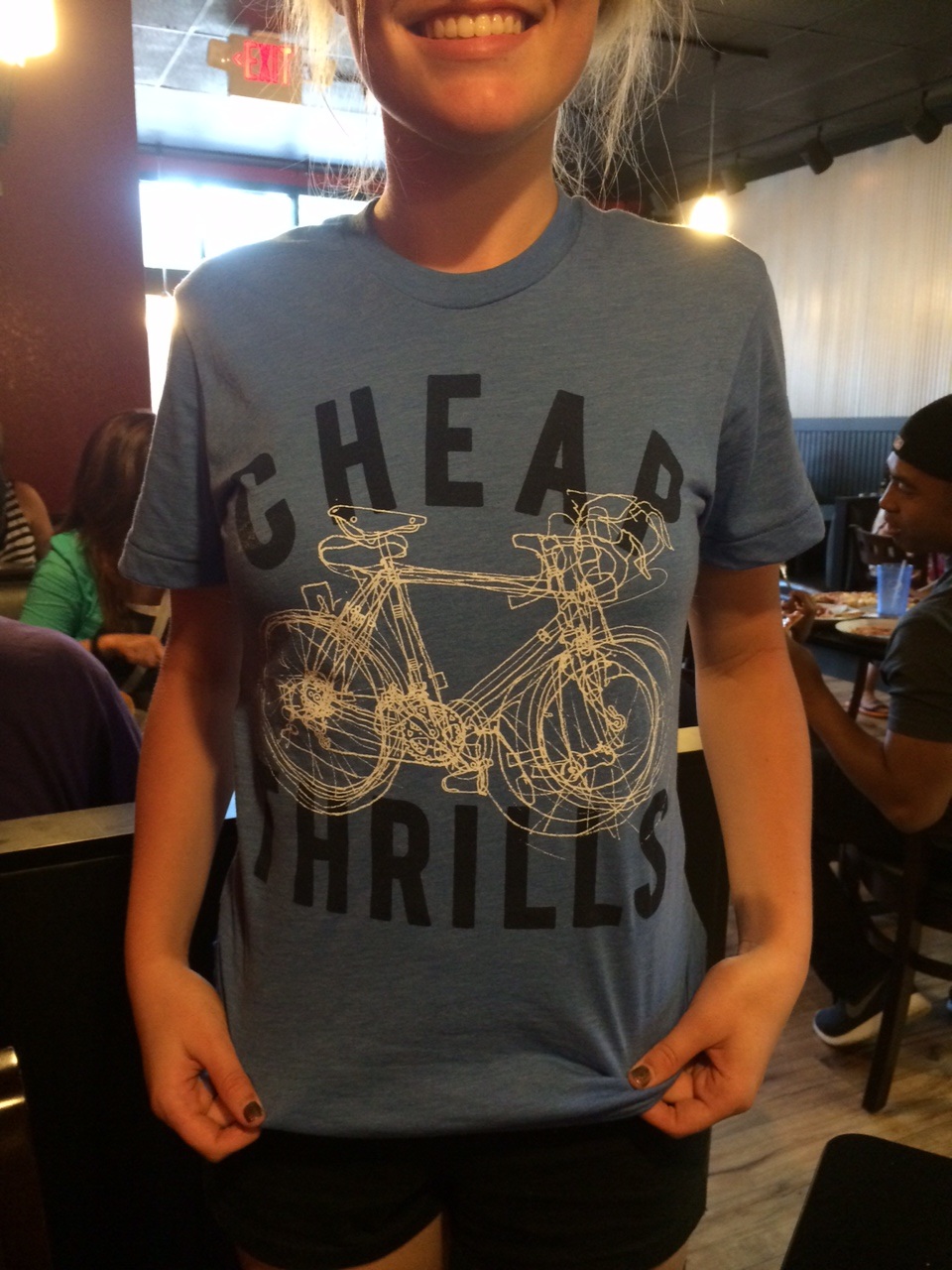 Modeling my new shirt at Crust 54 Pizza in Holland, MI