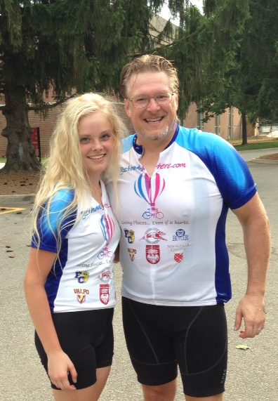 Dad & me after the ride.  Sweaty but happy.