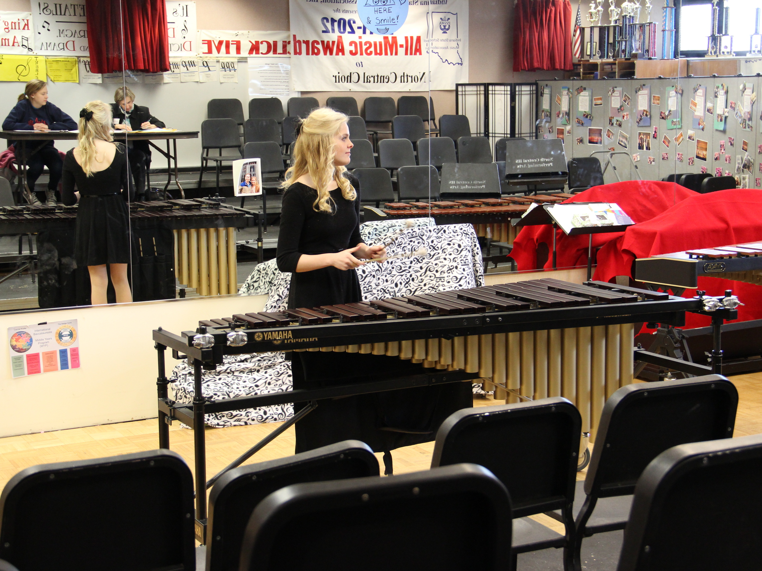 At the Indiana State Solo & Ensemble contest last year.