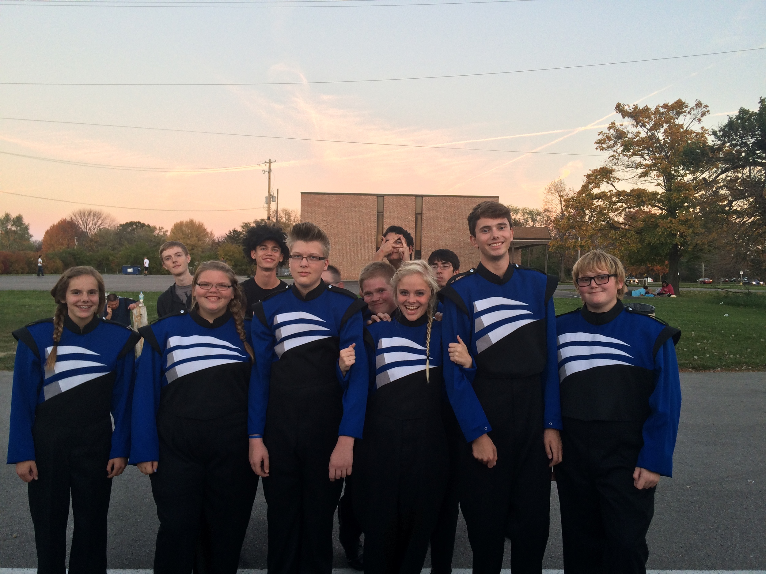FCHS Percussion Front Ensemble with some DrumLine photo bombers