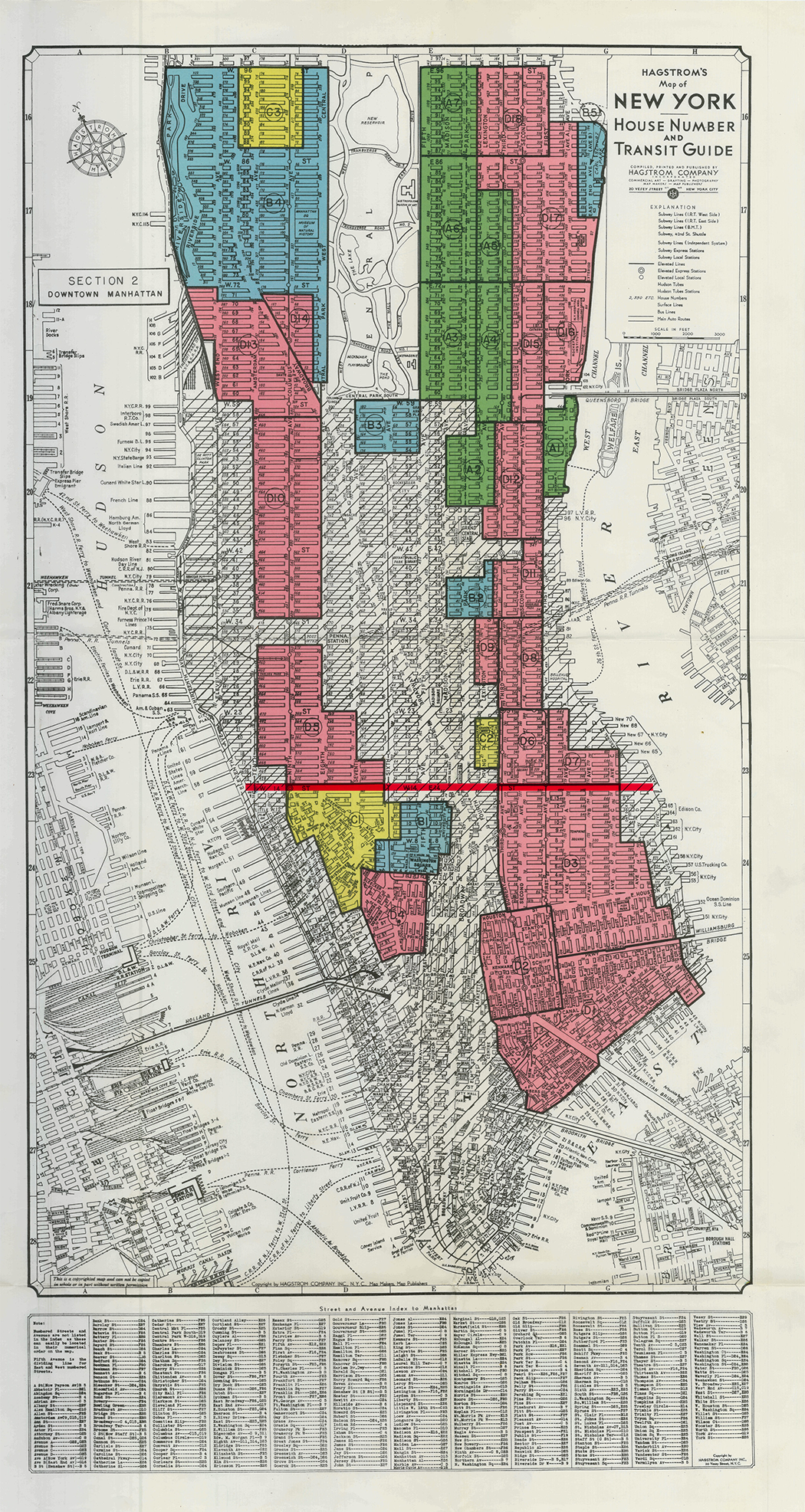 Home Owners' Loan Corporation residential security map, New York, 1938