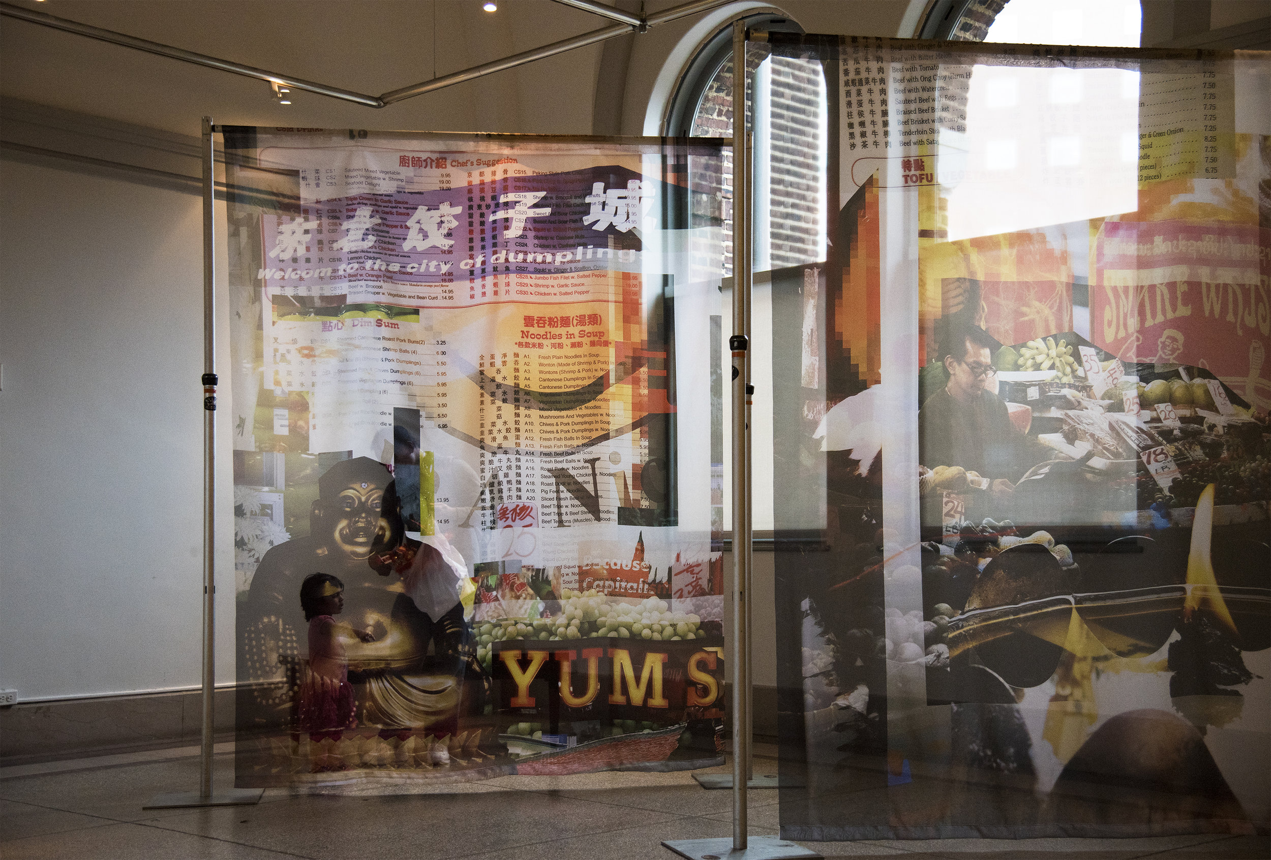 Market Authentics (2017)  installed at the Penn Museum for their annual Chinese New Year Celebration.  photo credit: Emily Chow Bluck