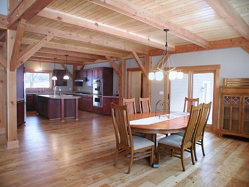 Clifton, WI Timber Frame: Dining Room