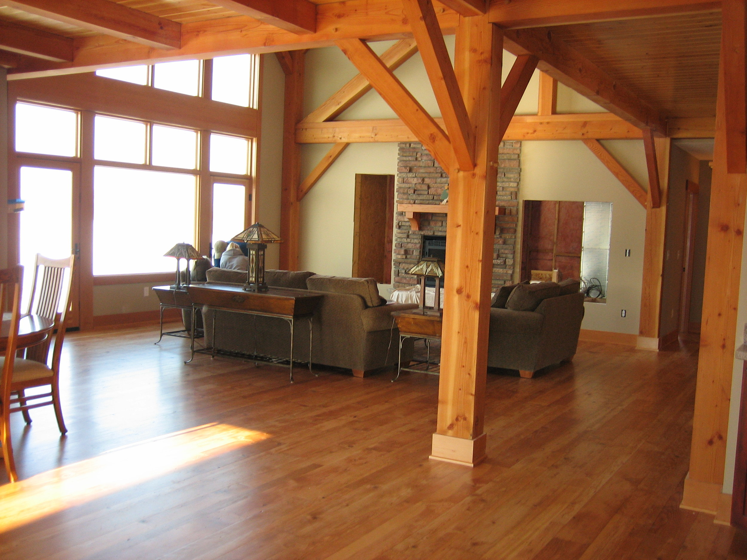Clifton, WI Timber Frame: Living Room