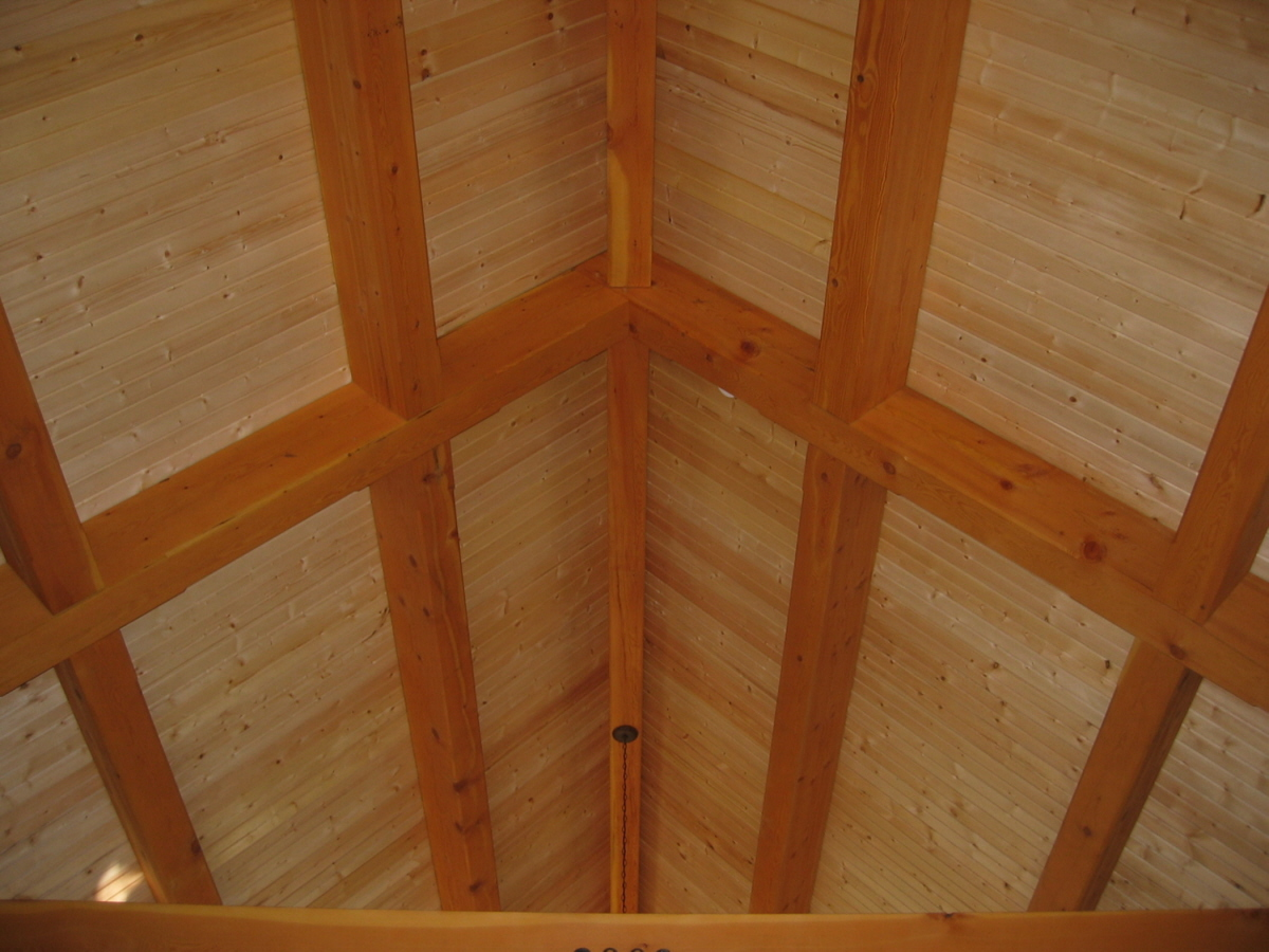 St. Joseph, WI Timber Frame: Ceiling, Exposed Wood