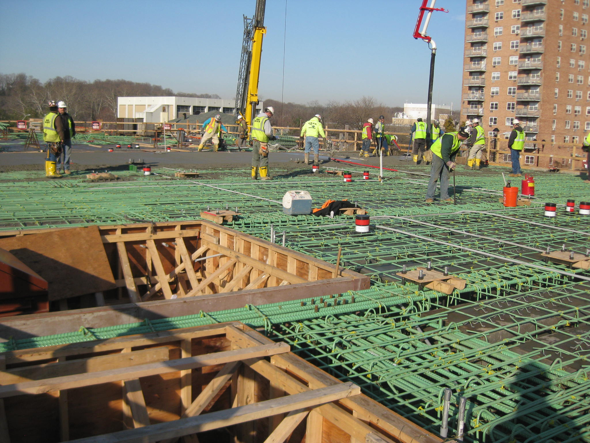 Cast in place supported slab at The Thomas Edison School of Nursing - Trenton, NJ