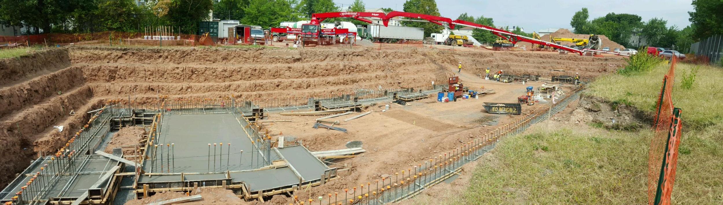 Pumping Concrete at Littleton Academy - Newark, NJ