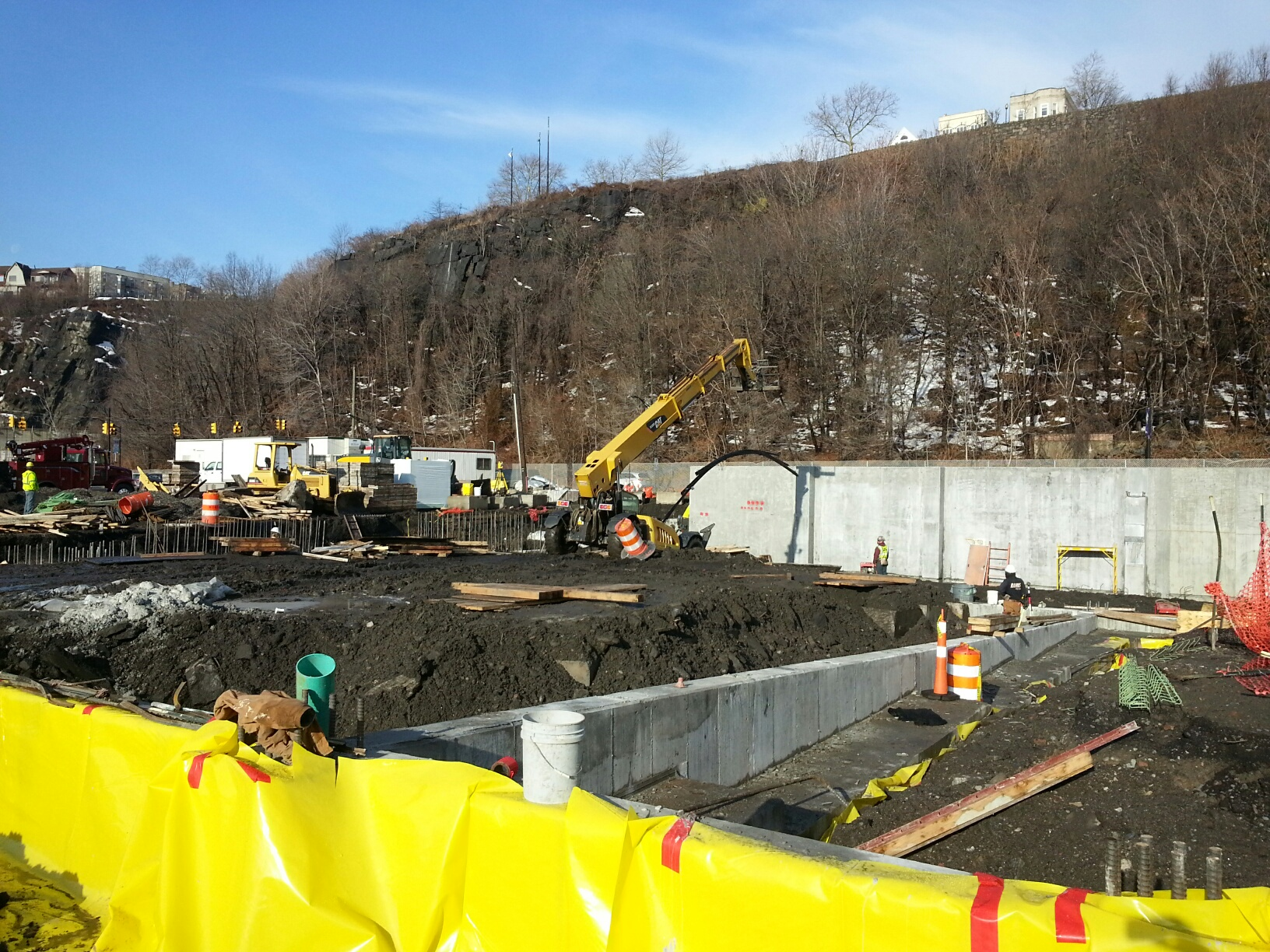 Foundations & walls begin at Port Imperial Parking Garage - Weehawken, NJ
