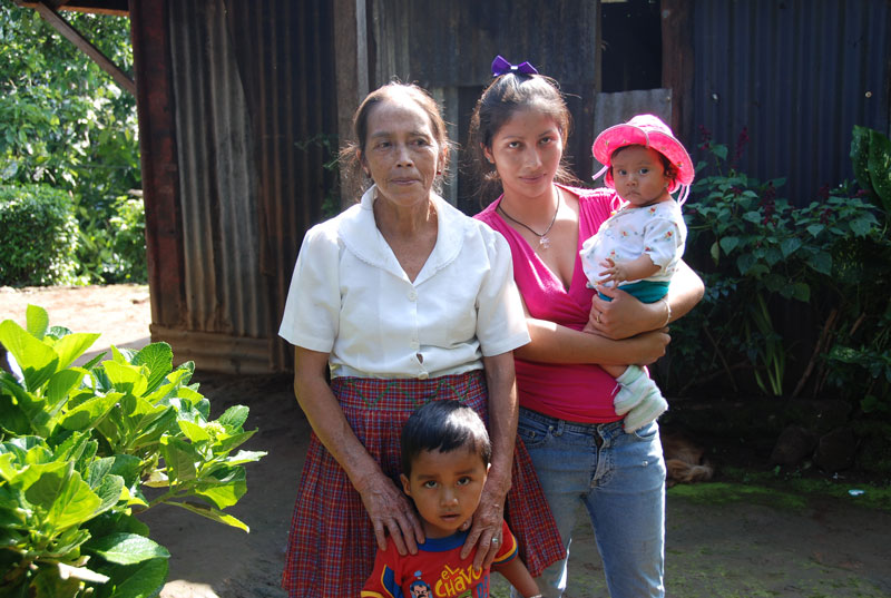 Jacinta with one of her daughters and two of her grandchildren