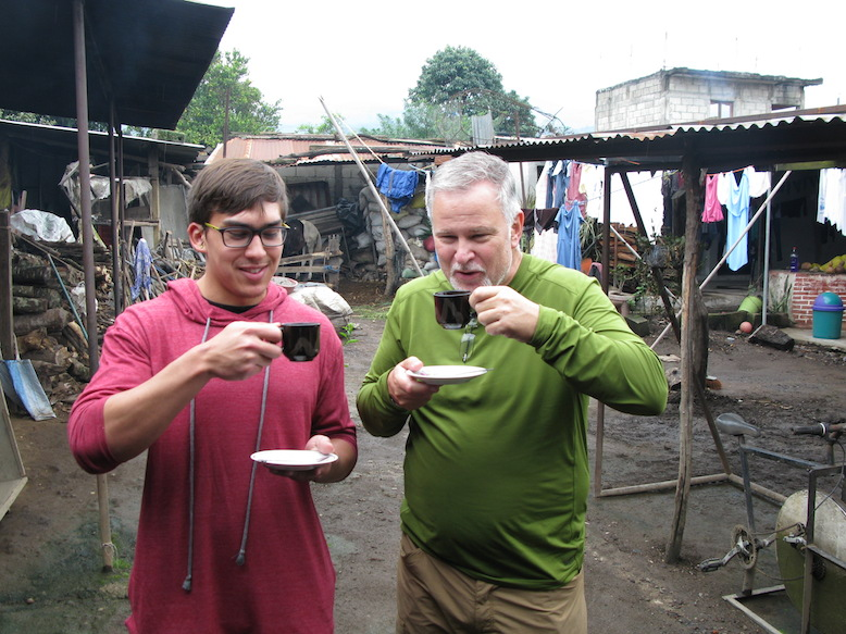 Then, they enjoy those beans in a piping hot cup of excellent coffee.