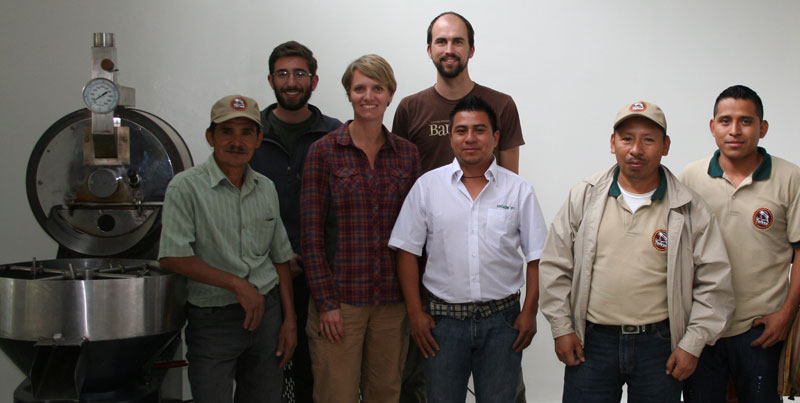 Les from Deeper Roots, Andy and Mindy from De la Gente and members from the UPC cooperative in Huehuetenango.