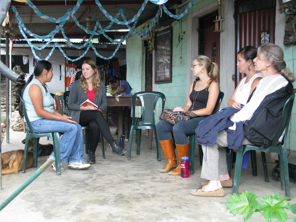From left to right, Marta from the cooperative; Lottie from DLG; and Caroline, Pilar and Christine from BFB.