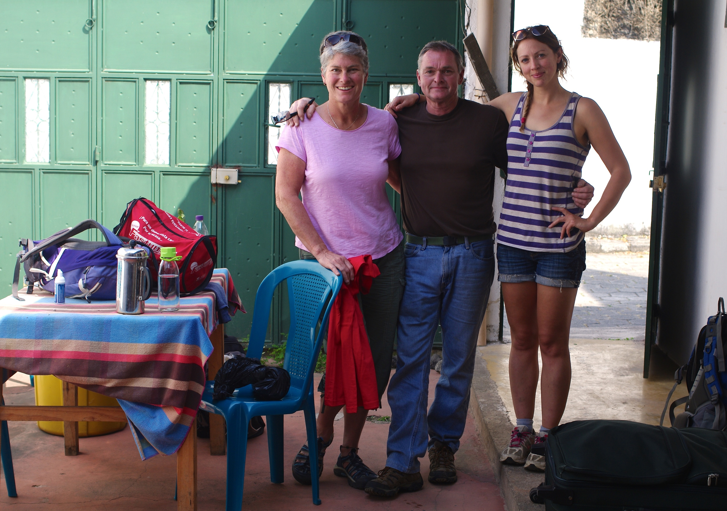 The couple preparing to leave for their roadtrip to Santa Anita with Director of Development, Lottie Riddle.