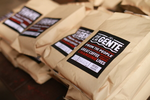 five one pound bags of coffee