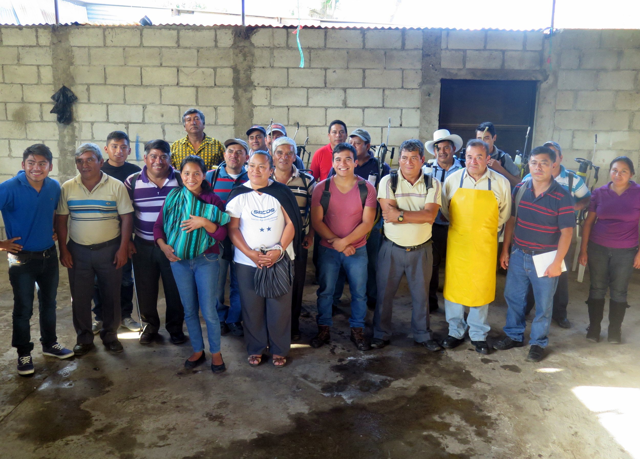 Participants from San Miguel Escobar become certified at safely applying agro-chemicals