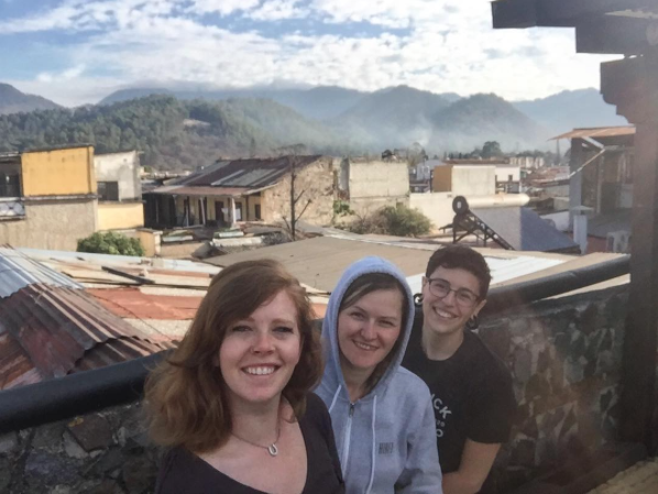 Jess, Jenni, & Bri during their visit to Guatemala