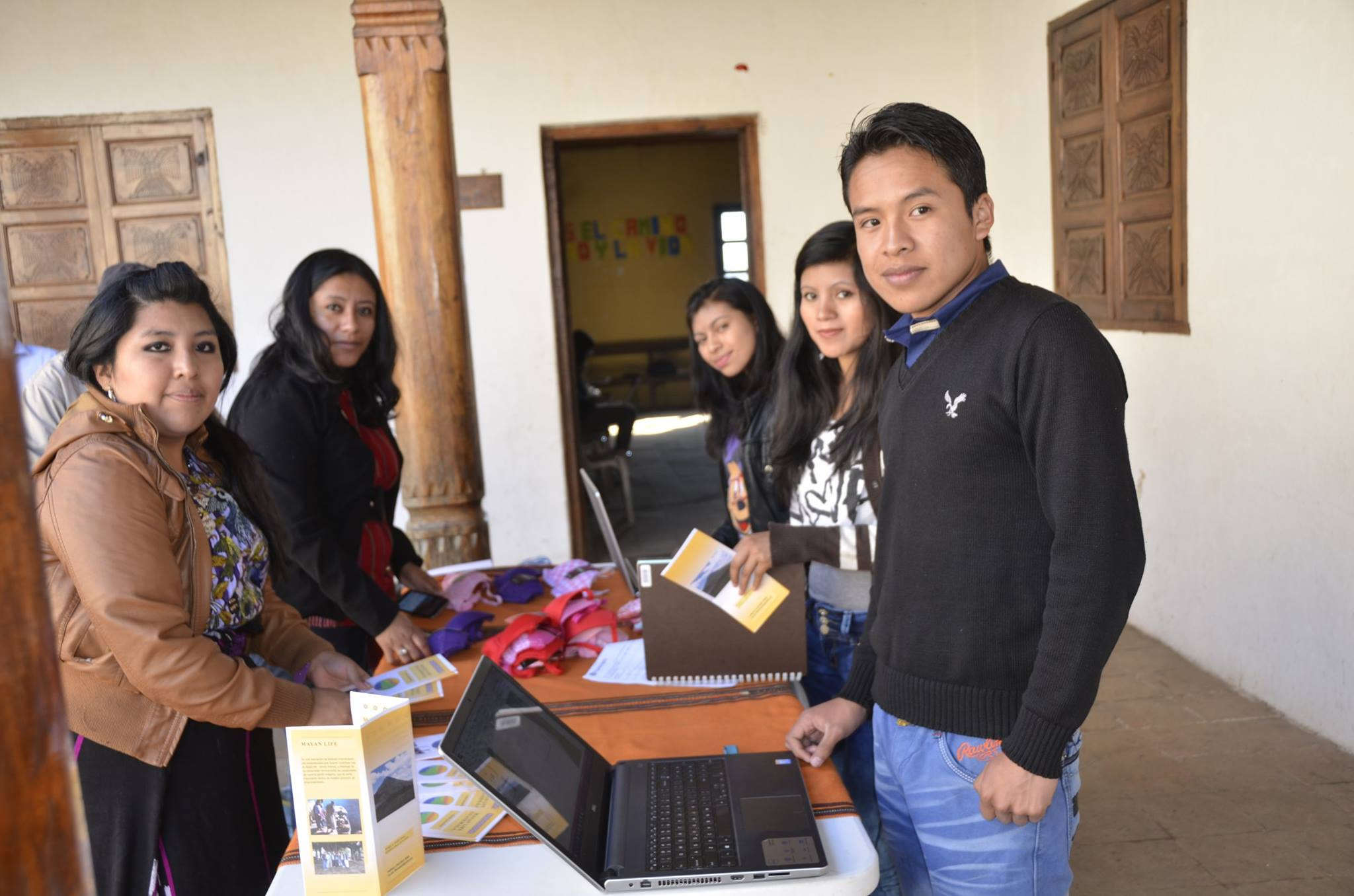Lola with other young entrepreneurs presenting her business idea in Chajul Quiche, Guatemala.