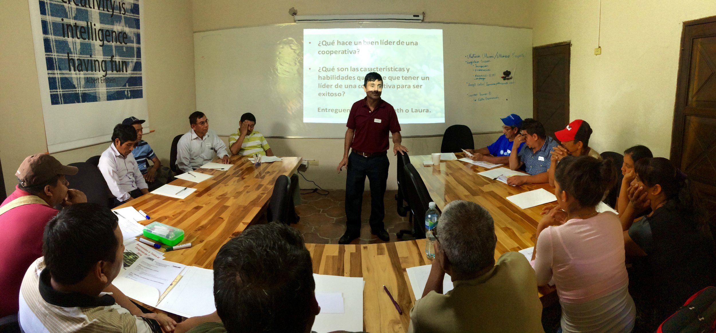 Timoteo Minas Leading the Congress Discussions.