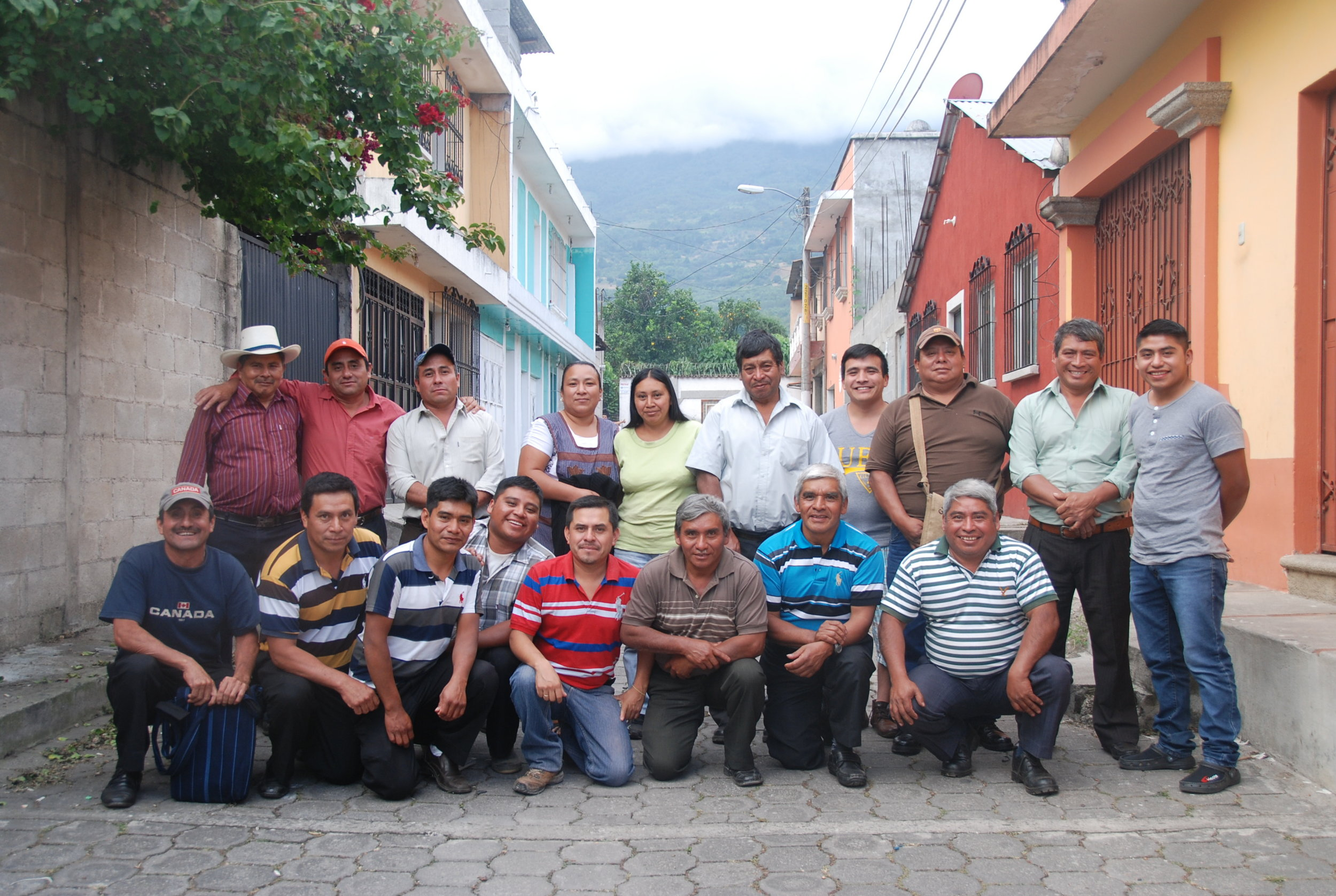 Members of the San Miguel Escobar Coffee Cooperative.