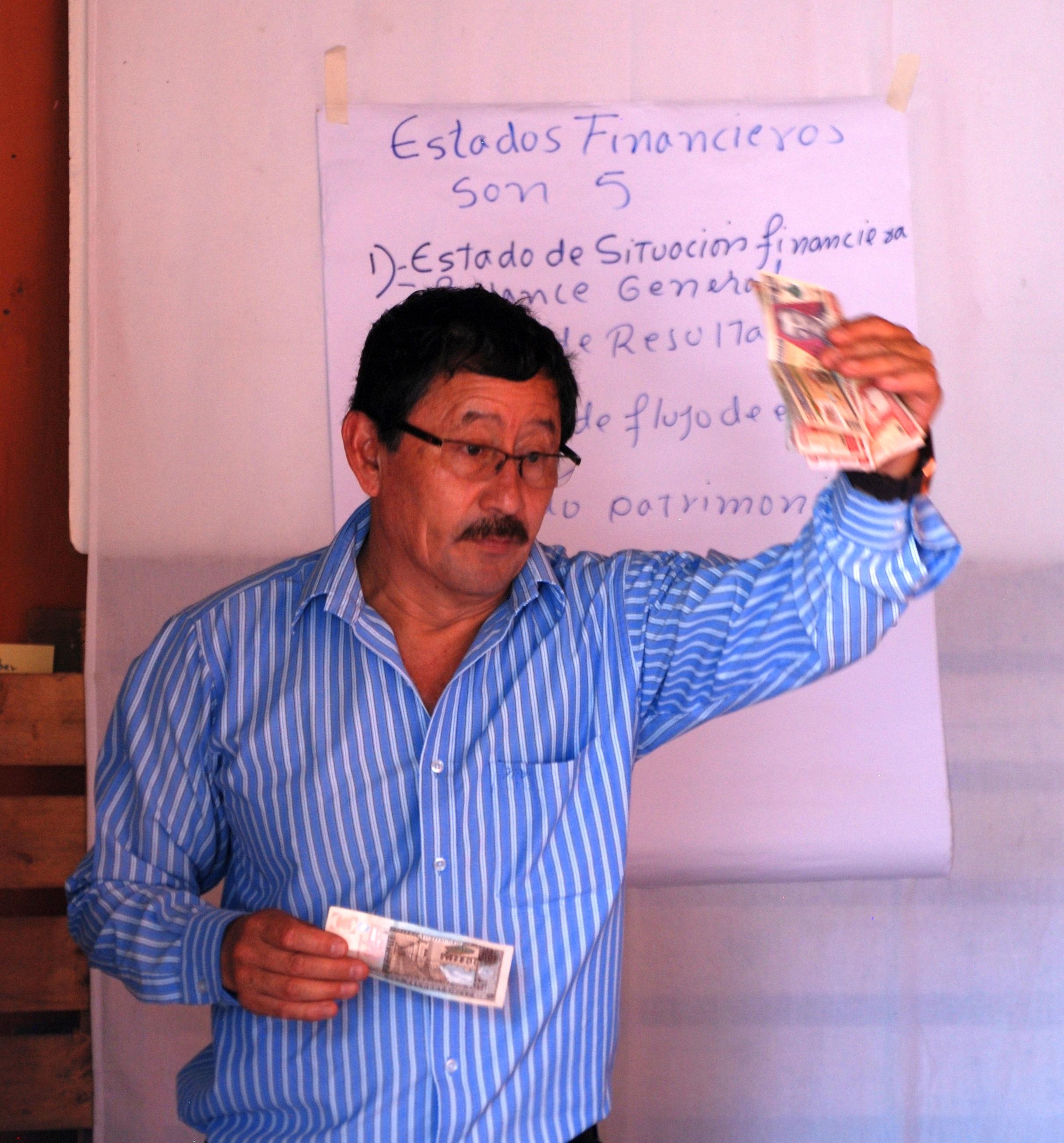 Always energetic Gildardo Martinez running the workshop in San Miguel.