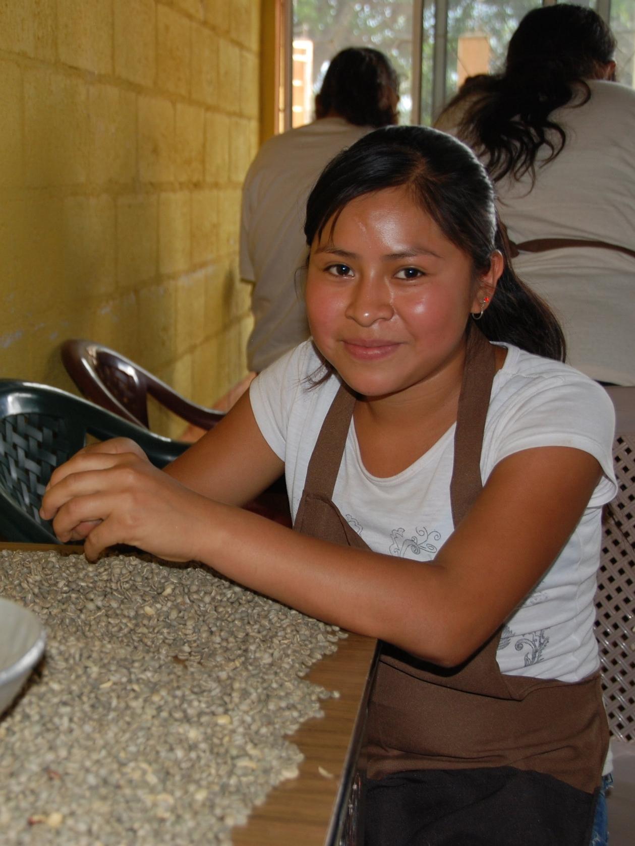 young girl with Organic Coffee