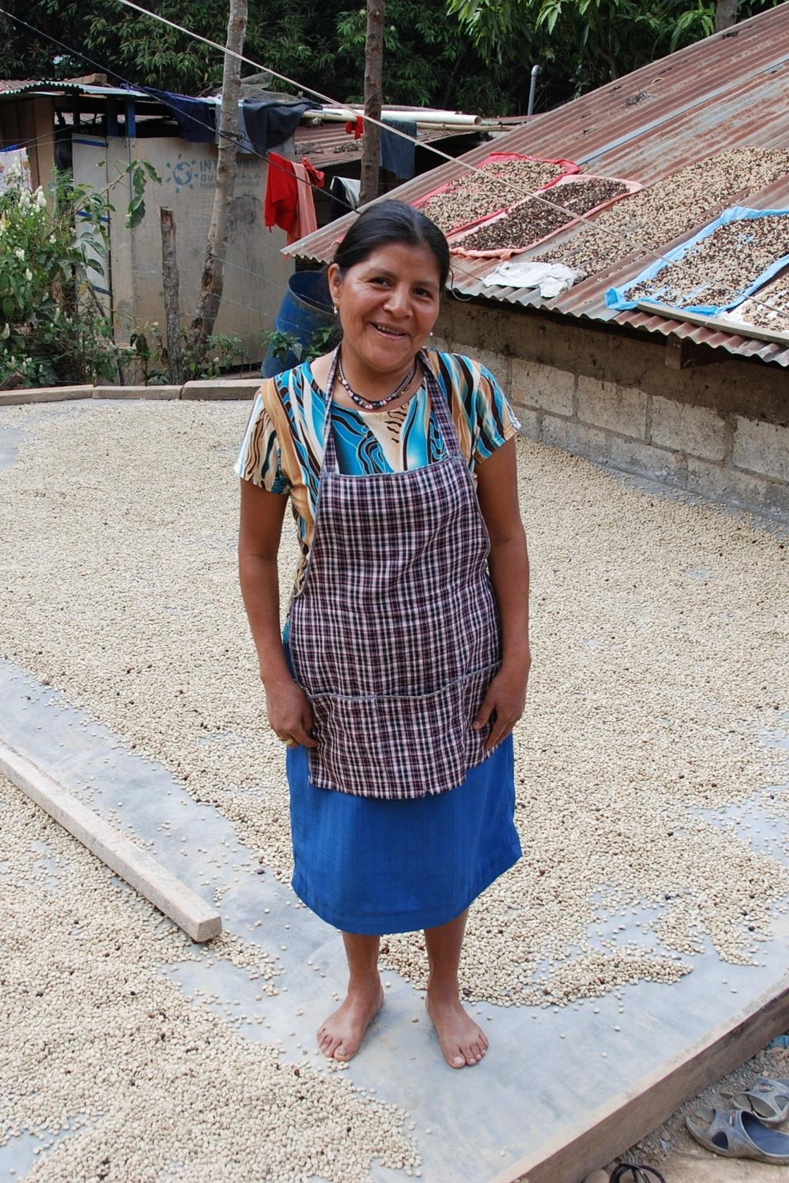 Female Coffee Farmer posing