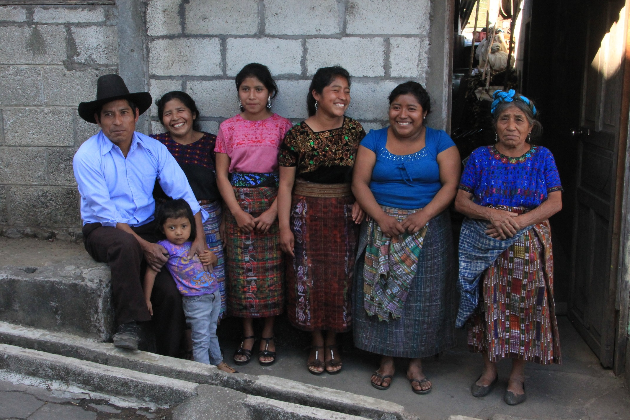 Coffee Family Lake Atitlan Guatemala