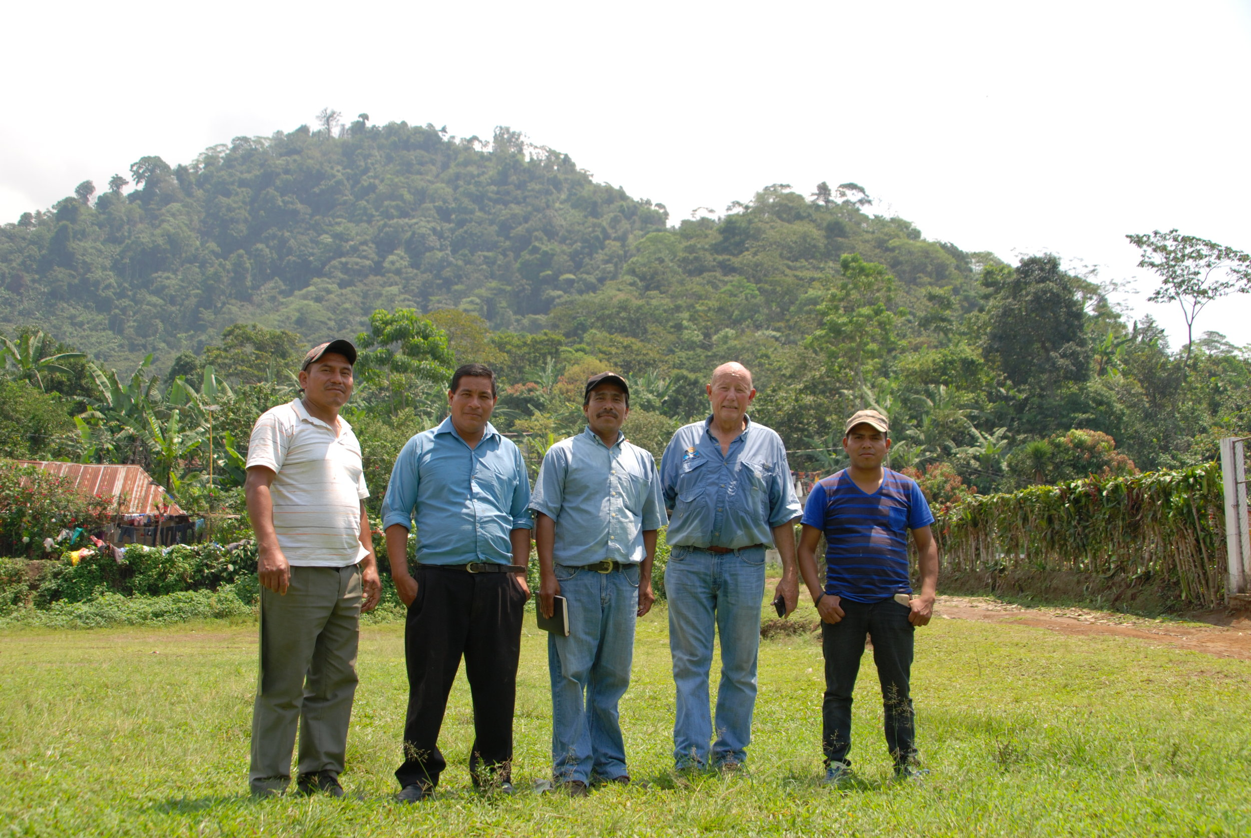 Chet Sadler with four members of La Suiza cooperative