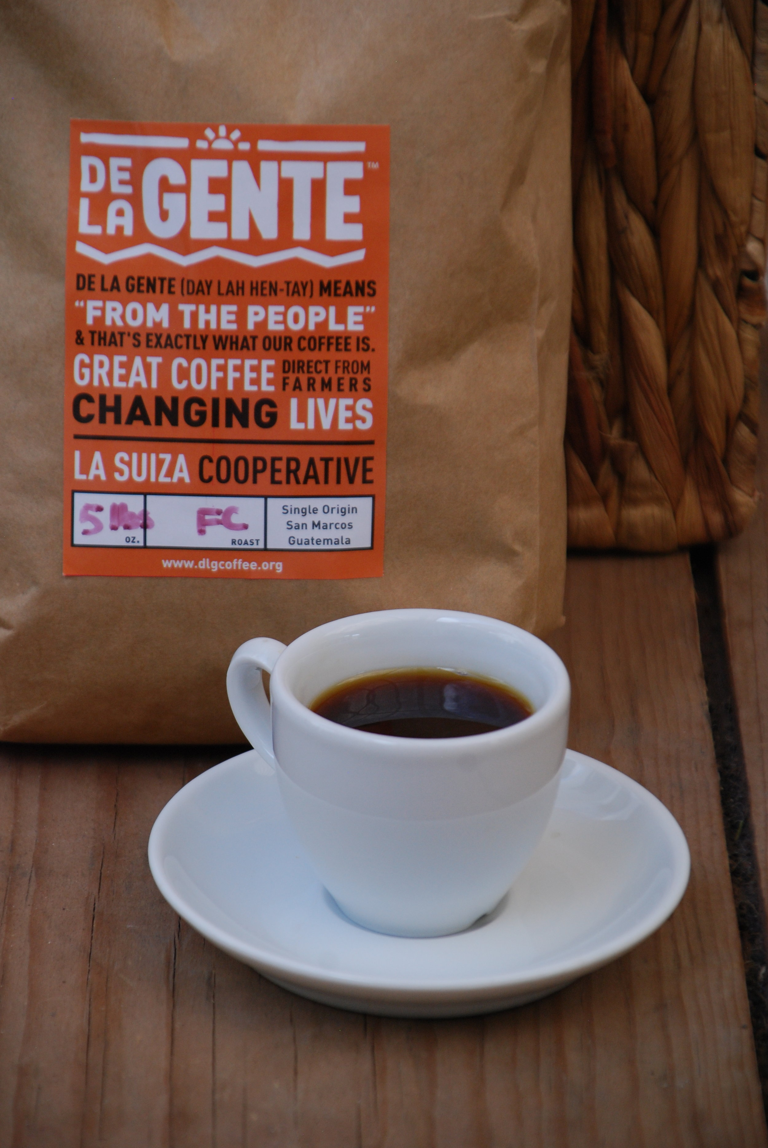 Cup of coffee from La Suiza