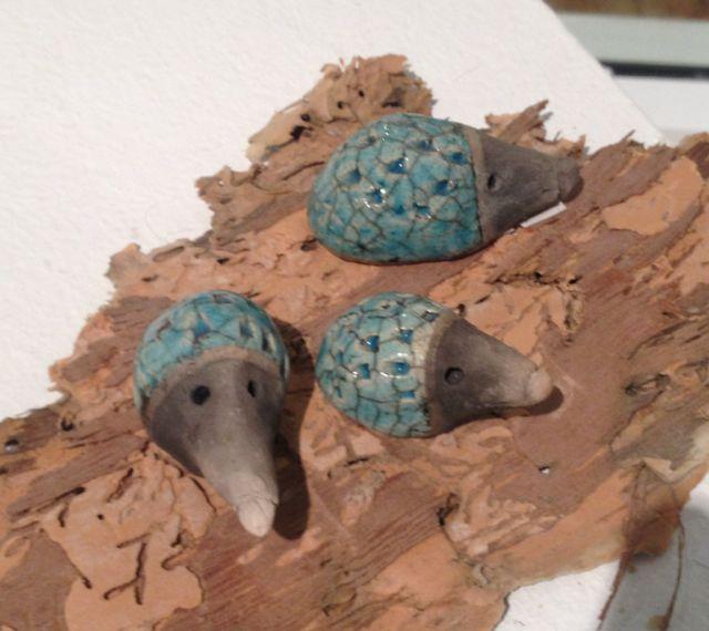 Hedgehog family by Caroline Munro.
