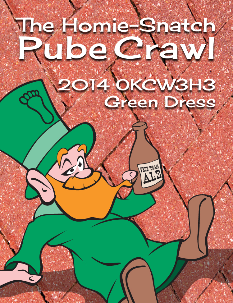2014 Green Dress Pub Crawl