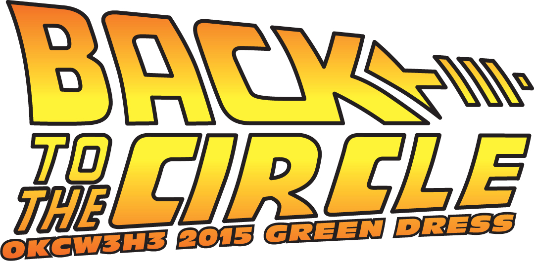 Logo for the 2015 OKCW3H3 Green Dress