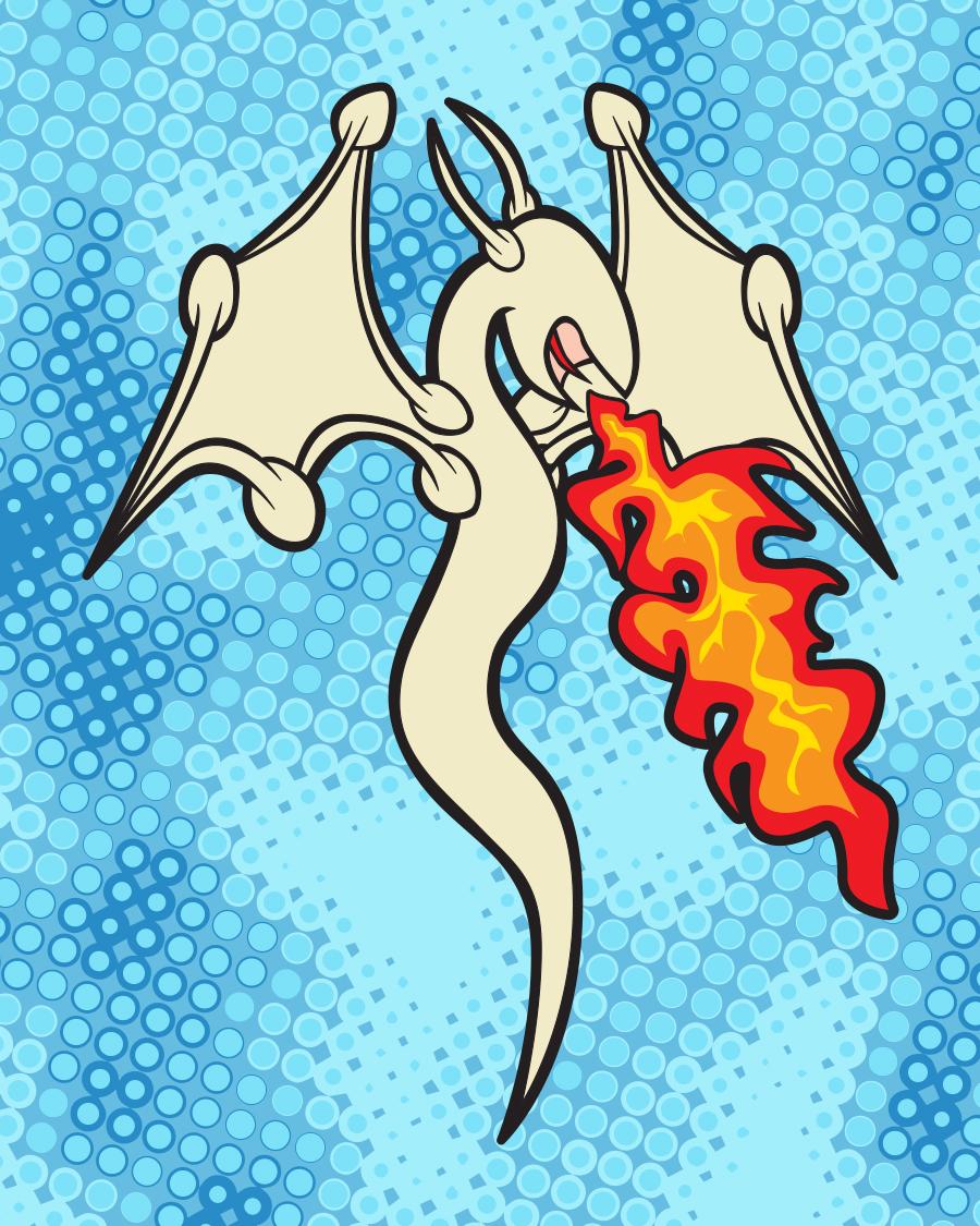 Fire Breathing Cum Dragon