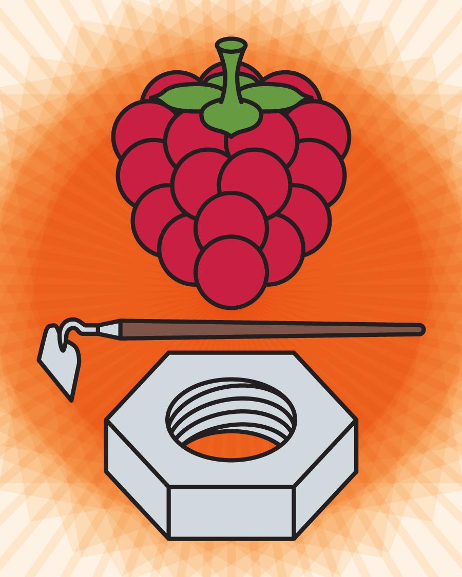Raspberry Hoe Nut