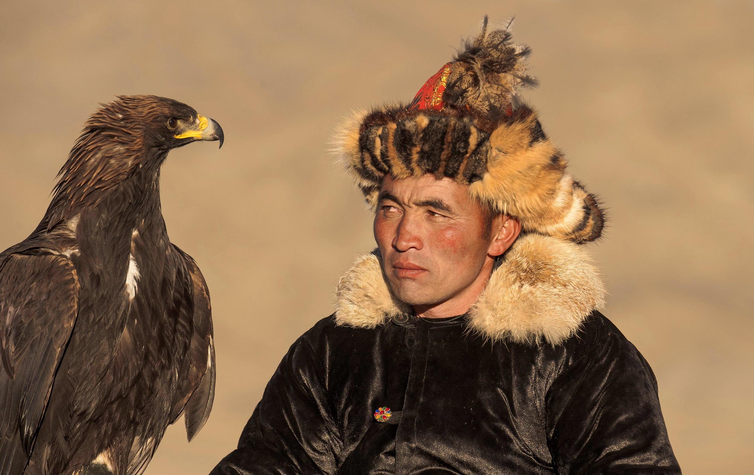 kazakh eagle hunter of mongolia.jpg