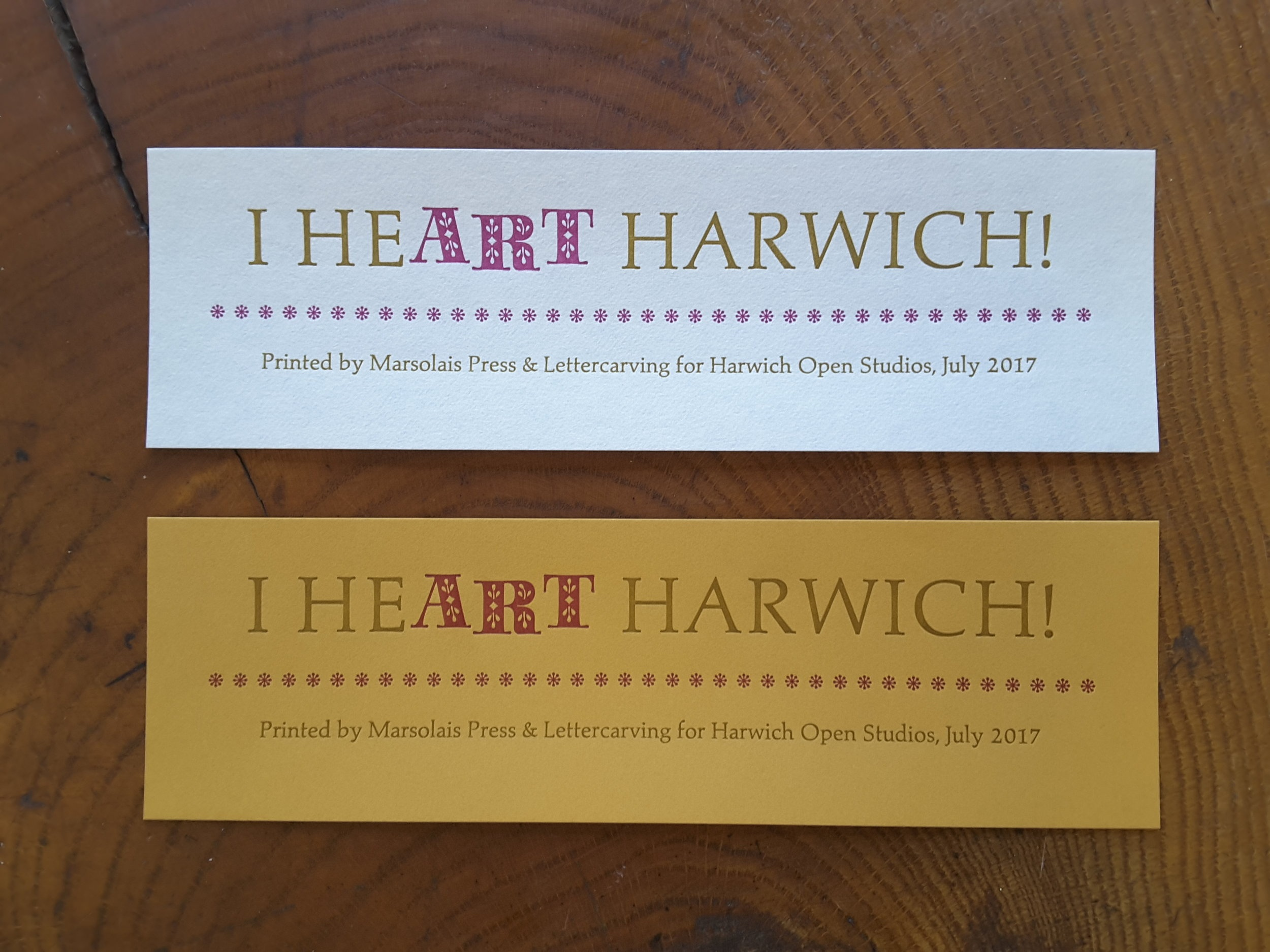 Bookmarks - When people visit my shop at the Harwich Cultural Center I like to have something to give them as a keepsake. These bookmarks were printed in time to hand out at the Center's first Open Studios in July 2017.