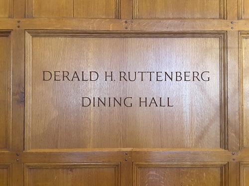 Ruttenberg Panel - This project offered me the opportunity to expand the scope of my carving abilities and work in wood, in this case white oak, for the first time. The finished letters were then painted in a shade of oil-based burnt sienna.Location: Yale Law School, New Haven, CT