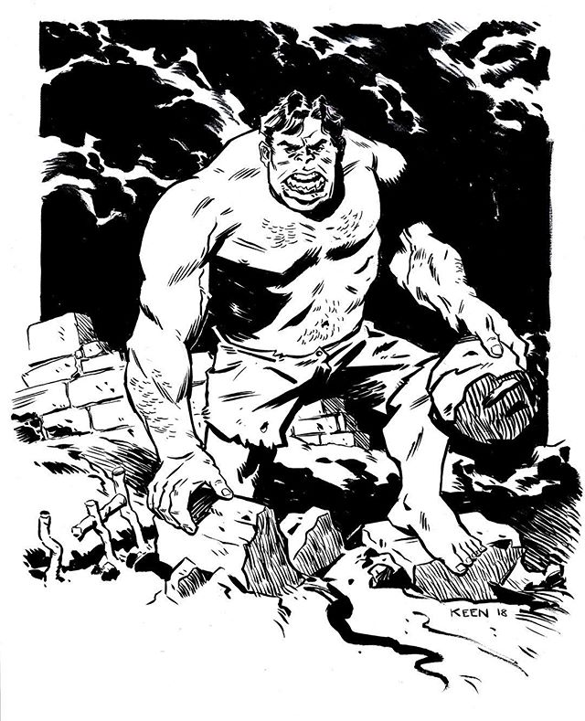 Smash! #hulk #marvelcomics #hulksmash #warmup #practice #comics #ink #inked #art #artoftheday #sketch #sketchbook #artistsofinstagram #cartoon #blackandwhite #traditional