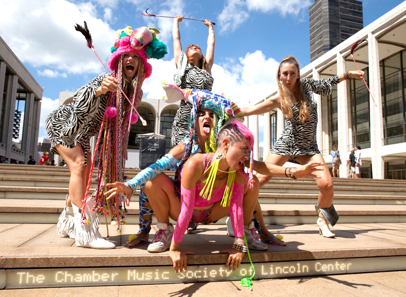 Guerilla Fashion Action with Legacy Fatale, Lincoln Center during Fashion week, photo: Marie Tomanova, 2014