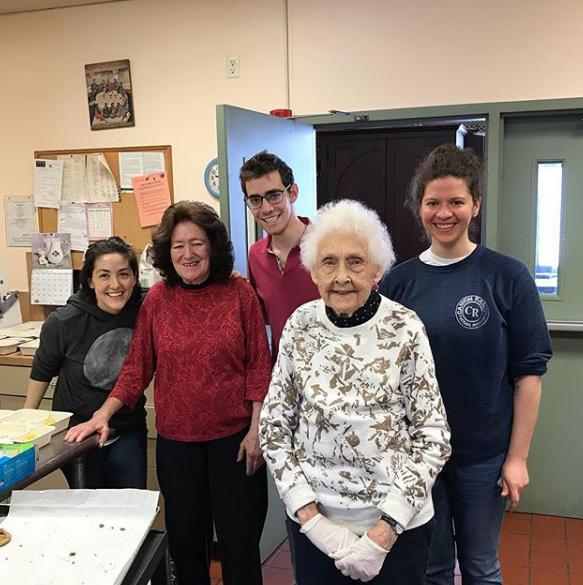 Julia with Angel Food East volunteers