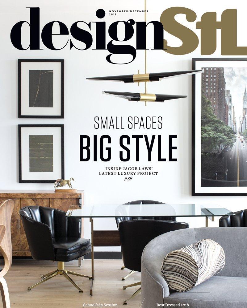 """Design STL // Nov Dec 2018 - """"Small Spaces, Big Style"""""""