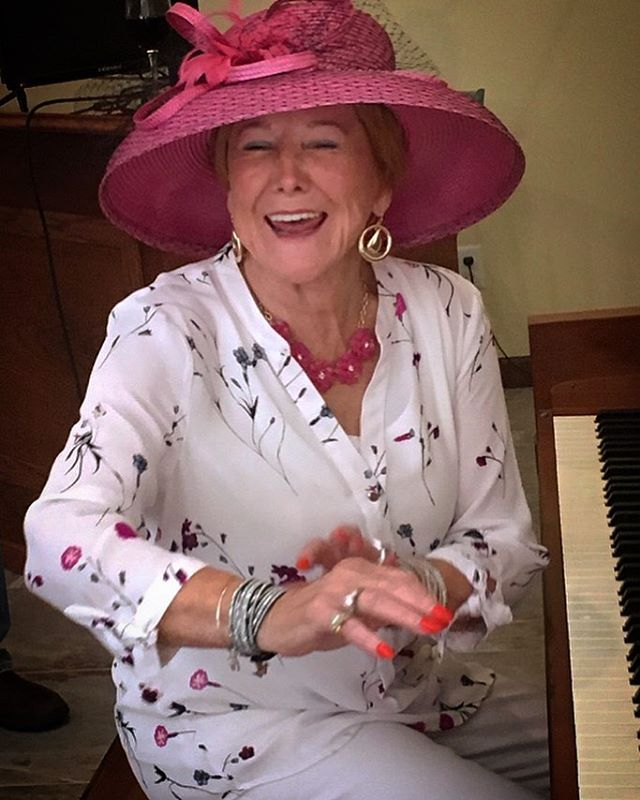 """One of my favorite people, our grandmother, Winnie's sister and- of course- she's hitting up a piano. """"Good Times and Bum Times..."""" . . . #mostlymartha #partymarty #hiphophippytothehiphiphop #hubbabubba"""