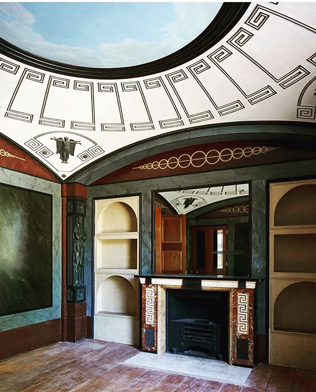 The details... Sir John Soane's @pitzhanger Pitzhanger Manor and Gallery. . . . #sirjohnsoane #pitzhangermanor #greekkey #details #architecture #interiordesign #jacoblawsofstyle #jacoblawsinteriordesign #jlid @jacoblawsinteriordesign