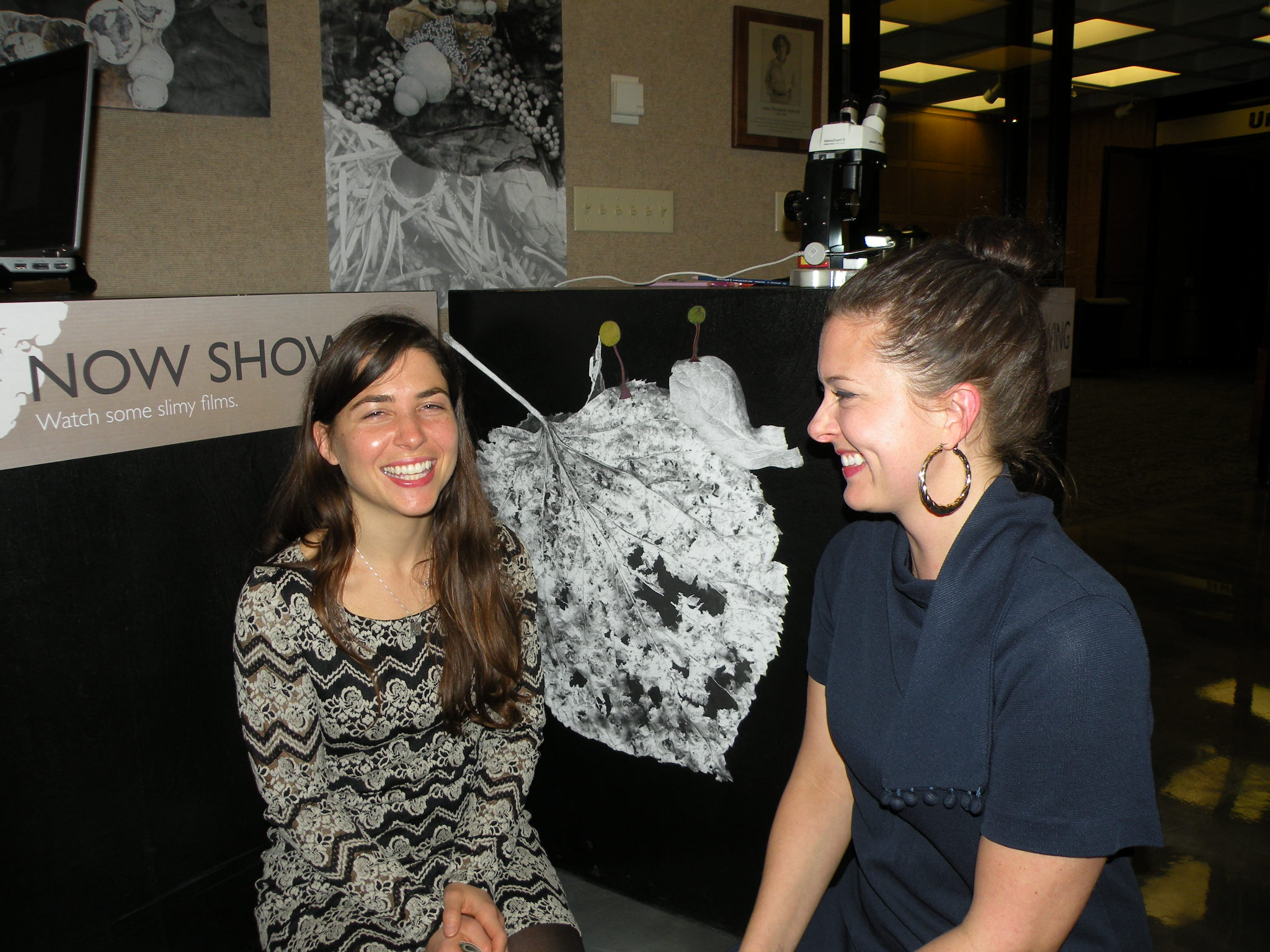"Laura and I giggled a lot about slime mold. (Disclaimer: Laura once told me she's not a huge fan of calling it ""slime mold"" --she prefers ""myxomycetes."")"