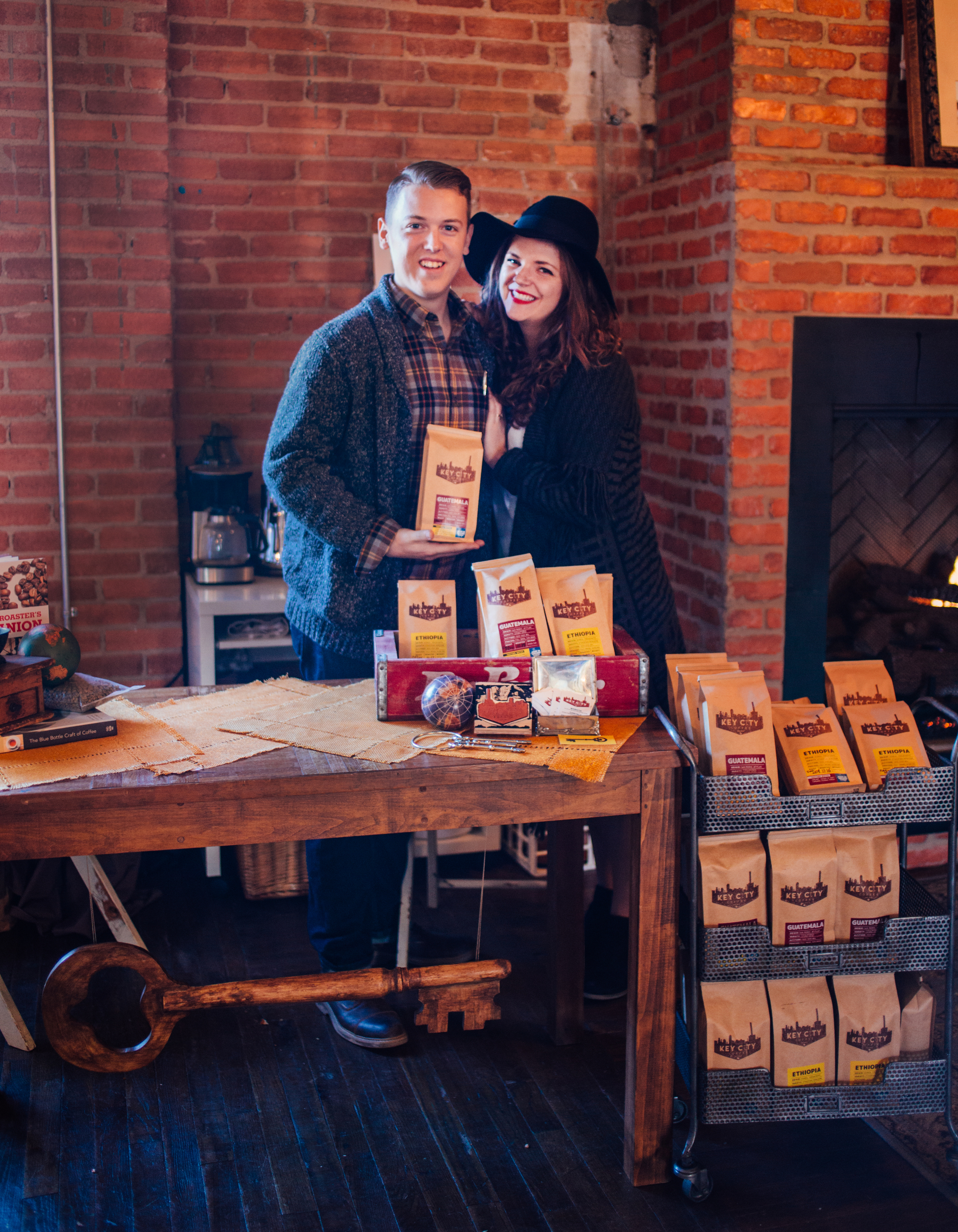 Daniel and Emily Parker, owners of Key City Coffee at the Fall 2015 People Party Craft Fair | Photo by Roslynne Love