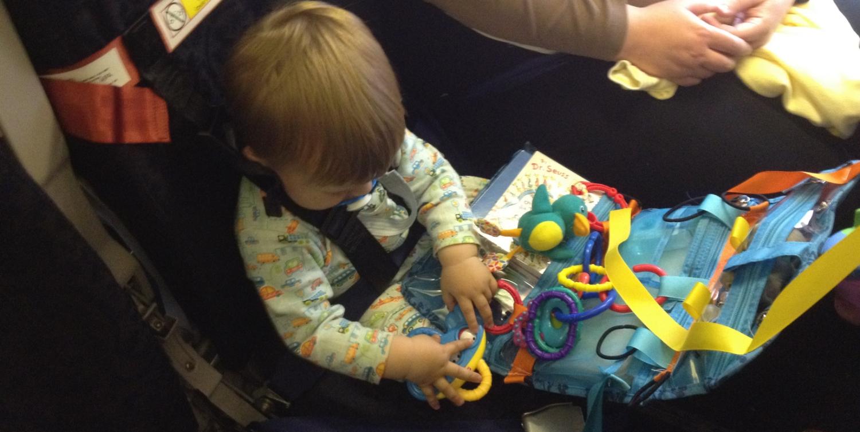 Bambino explores the Organizer and Play Center