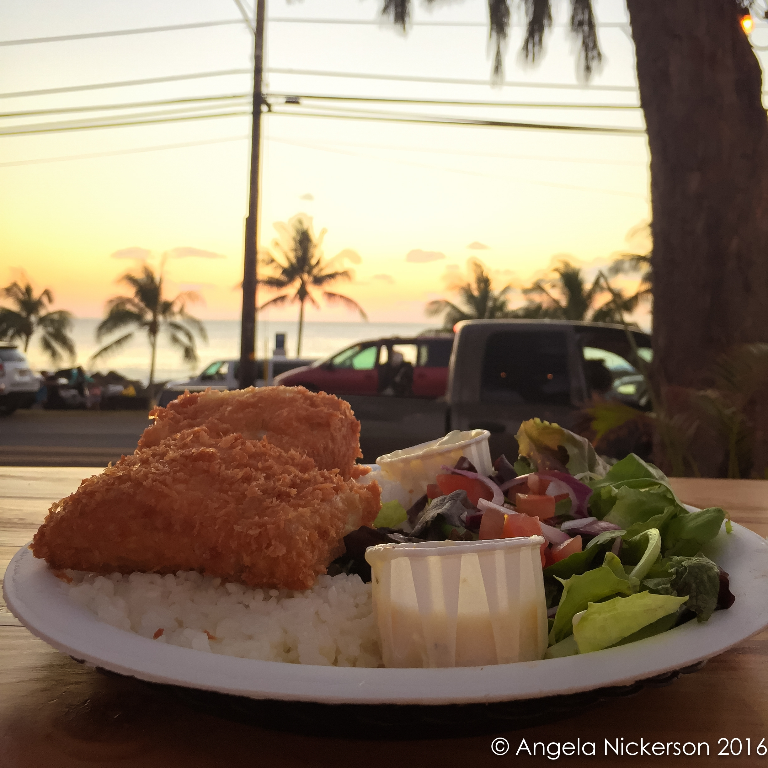 Coconut-crusted MahiMahi from The Spot on Sunset Beach